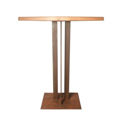 ALHAMA Table de style industriel avec structure en métal, plateau en bois. Produit fabriqué par MisterWils, les dimensions et finitions sont personnalisables.