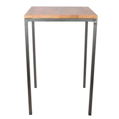 ELEPHANT Table de style industriel, structure en tubes de fer de 3cm, plateau en bois. Produit fabriqué par MisterWils, les dimensions et finitions sont personnalisables.