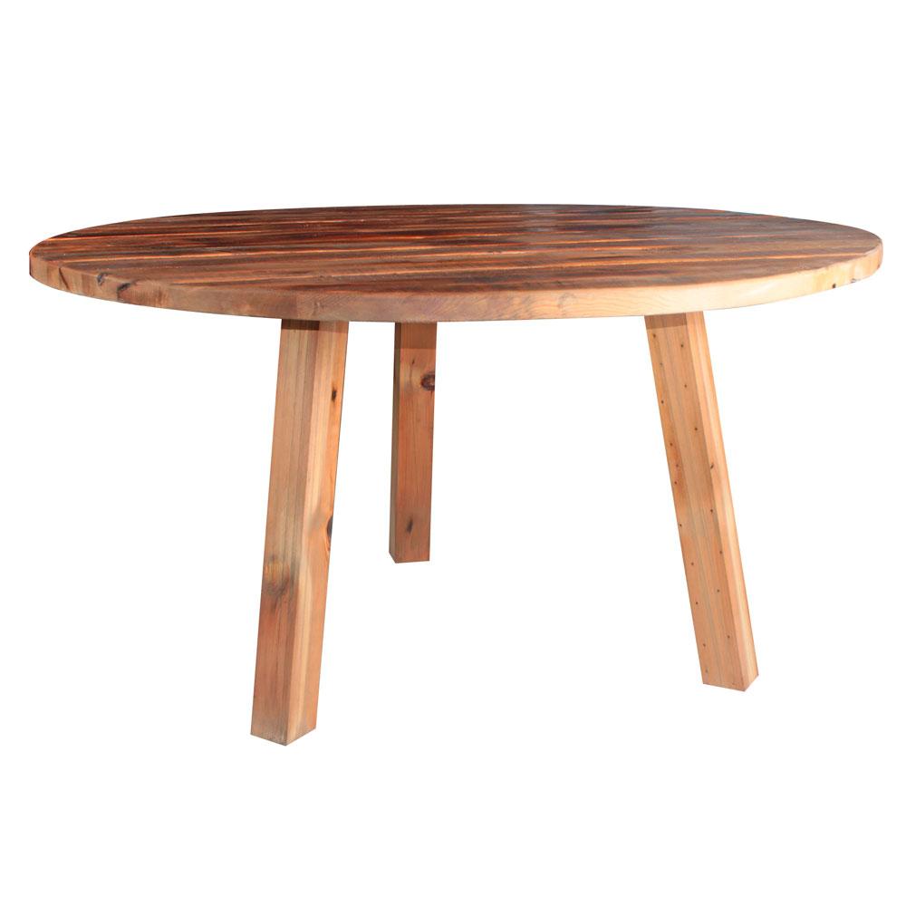 DIXON Table de style vintage, intégralement réalisée en bois. Produit fabriqué par MisterWils, les dimensions et finitions sont personnalisables.