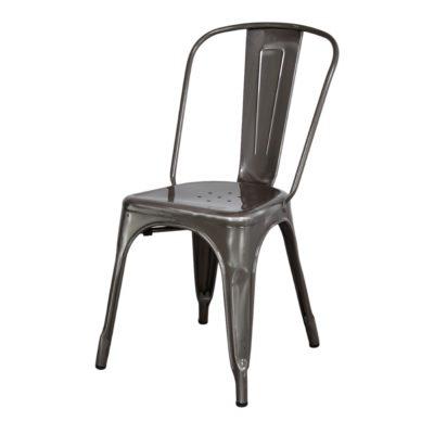 FAVORIT BARNIZ Modèle inspiré de la chaise Tolix de la série A de Xavier Pauchard, icône du design industriel dans les années 30. Fabriquée en fer, de style industriel. Finition vernis.