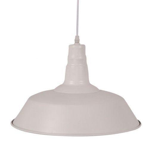 PEKIN BIG WHITE Lampe de plafond de style industriel, fabriquée en métal. Culot E27. 60W. Dimensions: ø36x25 cm. Longueur de cable 80 cm.