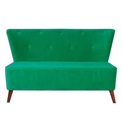 TROCADERO Canapé de style scandinave, retro. Revêtement en velours. Plusieurs coloris disponibles. Possibilité de fabrication en imitation cuir.