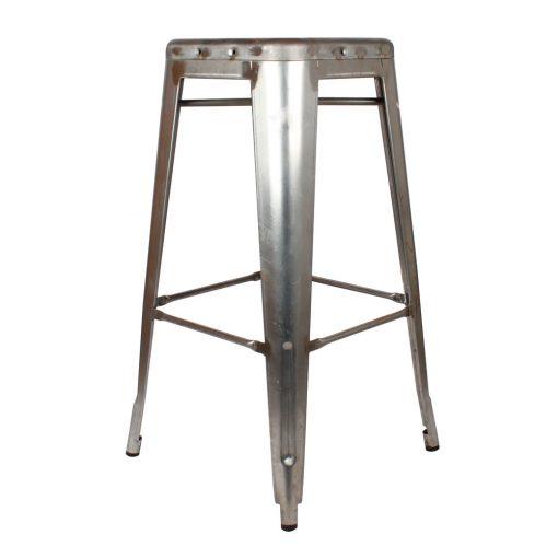 INDIANA UNPAINTED Tabouret style industriel en métal. Finition en métal naturel, sans traitement. Personnalisable avec un supplément.
