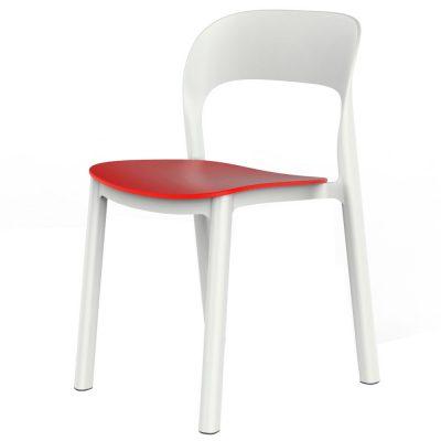 ONA Chaise sans accoudoirs, pour un usage intérieur ou extérieur. Structure et assise en polypropylène. Empilable. Protection contre les UV. Poids: 3.85kg