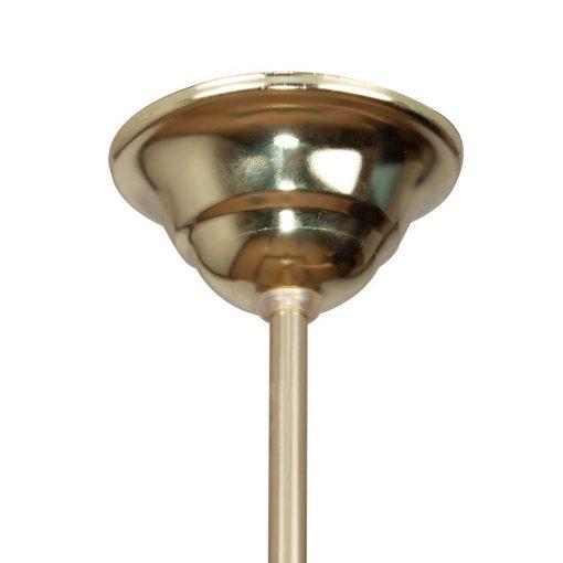 GRAND CAFÉ MINI Lampe de plafond de style vintage retro, structure en métal, finition laiton, globe sphérique en verre d'opale.Culot E27. Max 40W. Ampoule non incluse. Dimensions: Ø30x65cm.