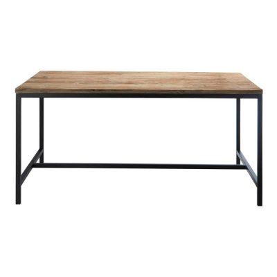 RUSTY Table de style industriel, une combinaison parfaite entre l'acier et le bois. Possibilité de fabrication sur mesure, finitions personnalisables. Disponible en bois neuf effet vieilli ou en bois ancien.