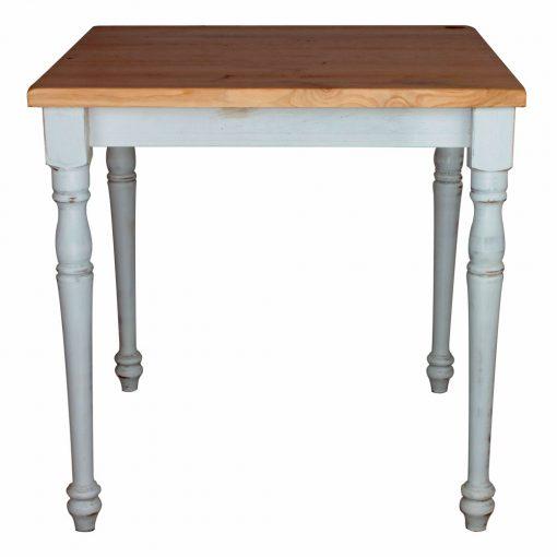 BARTOLA Table de style vintage, structure en pin. Plateau en bois. Couleur de la structure personnalisable.