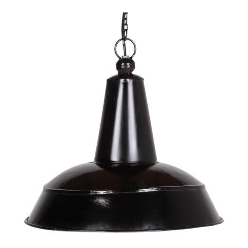 BASEL BLACK Lampe en métal de style industriel. Finition peinture noire effet usé.