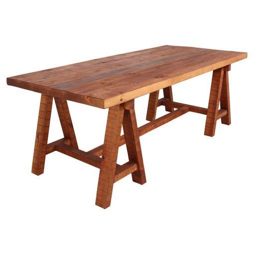 DRUM Table en bois avec un plateau réalisé en bois ancien récuperé de 7 cm d'épaisseur. Disponible en bois ancien ou bois effet vieilli. Fabrication sur mesure, les dimensions et finitions sont personnalisables.