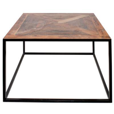 CONIL Table auxiliaire en bois. Elle s'adapte parfaitement à tous type d'intérieur, de design, sobre ou contemporain. Plateau en bois, finition géométrique. Produit fabriqué par MisterWils, les dimensions et finitions sont personnalisables.