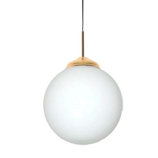 JERSEY OPALO 30 Lampe de plafond de style vintage/retro, structure en métal, finition laiton, sphère en verre d'opale. Culot E27. Max 40W. Ampoule non incluse. Dimensions: Ø30cm. Cable de 1,50m.