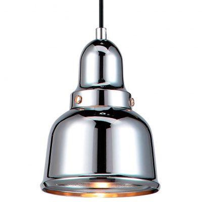 EMMA Lampe de style industriel, en métal, finition chrome. Culot E27 MAX 60W. Dimensions: Ø12,5x15 cm