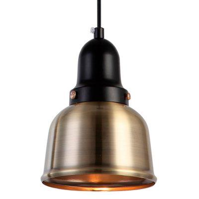 GRADIAN Lampe de style industriel fabriquée en métal, finition bronze ancien.Culot E27 MAX 60W. Dimensions: Ø12,5x15 cm