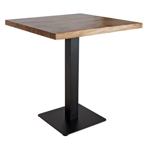 TAPIES BLACK Table de style industriel avec pied en métal, plateau en bois. Couleur noire.