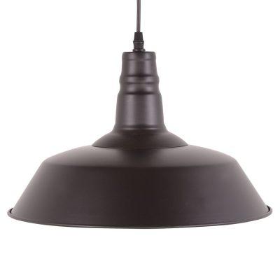 PEKIN BIG BLACK Lampe de plafond de style industriel, fabriquée en métal. Culot E27. 60W.Dimensions: ø36x25 cm. Longueur de cable 80 cm.