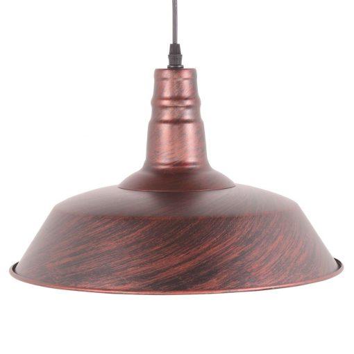PEKIN BIG OXIDO Lampe de plafond de style industriel, fabriquée en métal. Culot E27. 60W. Dimensions: ø36x25 cm. Longueur de cable 80 cm.