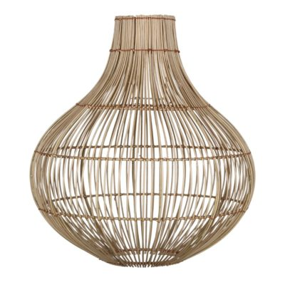 BERGAMO Lampe de style scandinave/moderne tropical, en rotin naturel. Installation électrique non incluse.