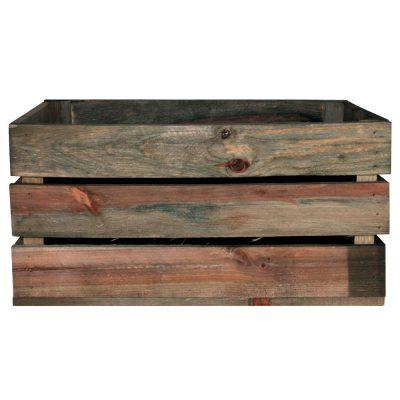 GABY OLD Caisse en bois de pin, effet ancien. Dimensions: 50x32x25 cm.