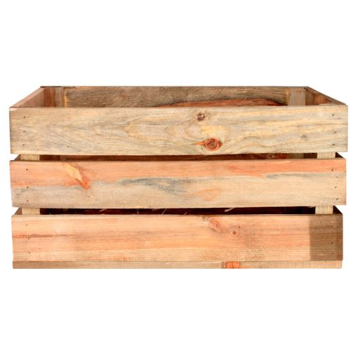 GABY NATURAL Caisse en bois de pin naturel. Dimensions: 50x32x25 cm.