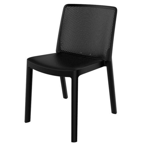 FRESH Chaise pour usage intérieur ou extérieur. En polypropylène, traitement anti-UV, empilable.