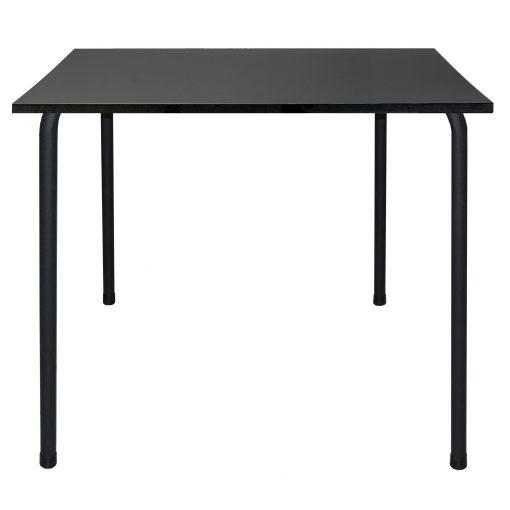 BARCINO COMPACT BLACK Table empilable, pour usage intérieur ou extérieur. Structure en aluminium peint par pulvérisation. Plateau en résine phénolique. Dimensions: 70x70x74 cm