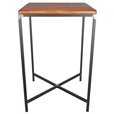 MORRIS Table de style industriel, combinaison parfaite de l'acier et du bois effet usé. Produit fabriqué par MisterWils, les dimensions et finitions sont personnalisables.
