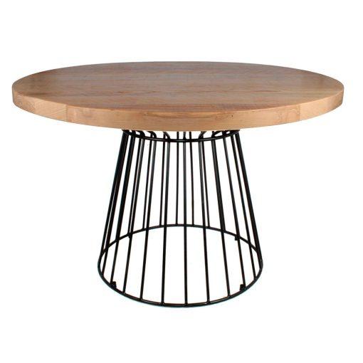 SUDOKU Table de style industriel, structure en acier, finition peinture en poudre noire. Plateau en bois. Fabrication sur mesure en Espagne.