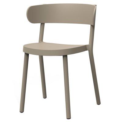 CASINO Chaise avec accoudoirs, pour usage extérieur ou intérieur, fibre de verre avec polypropylène. Empilable. Traitement anti-UV.