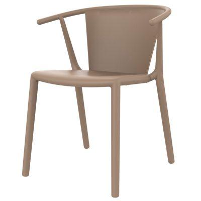 STEELY Chaise avec accoudoirs pour usage intérieur ou extérieur. En fibre de verre et polypropylène. Protection UV.