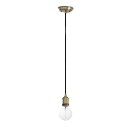 ART SUSPENSION Lampe de plafond en suspension, de style vintage, fabriquée en acier et aluminium, finition laiton. Culot E27. Max 60W. Dimensions: Ø5,5 cm. Longueur de cable150 cm.