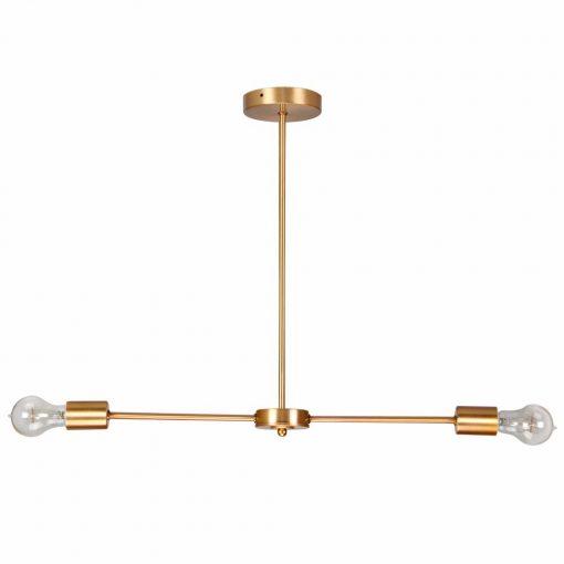 BILLY Lampe de style vintage/retro avec deux bras, finition laiton.Dimensions: Ø80x80 cm.