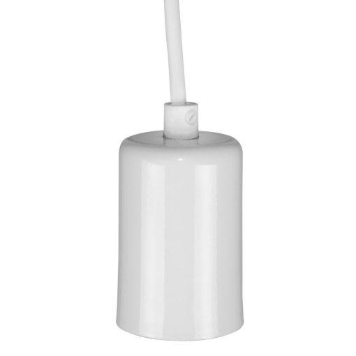 CULLEN WHITE Lampe de plafond de style retro, finition blanc Culot E27. Dimensions: Ø5x8 cm. Cable 100 cm