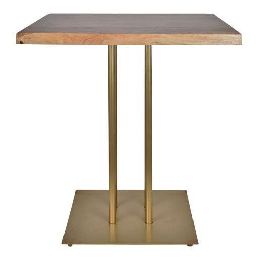 SIDECAR GOLD Table de style industriel avec structure en acier, finition peinture. Plateau en bois. Fabrication sur mesure.