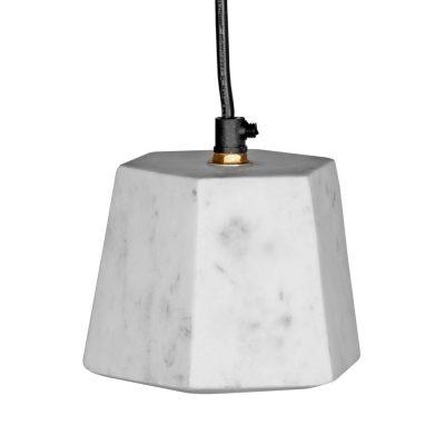 GALOPE MINI Lampe de style scandinave en marbre blanc. Culot E14. Max 40W. Dimensions: Ø11xH11 cm