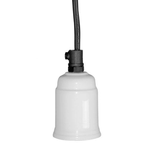 TOMMY WHITE Lampe de plafond de style rétro, finition blanc. Culot E27. Dimensions: Ø5x7,5 cm. Cable 150 cm