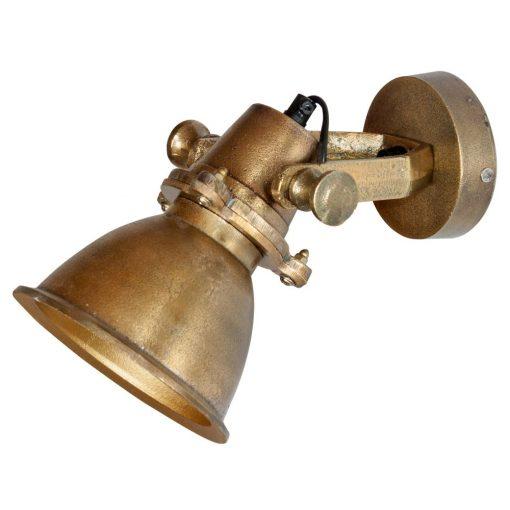 SANGARA Applique murale de style vintage/industriel, fabriquée en métal, finition bronze effet ancien. Culot E14. Max 40W. Dimensions: Ø14.5x21x18 cm