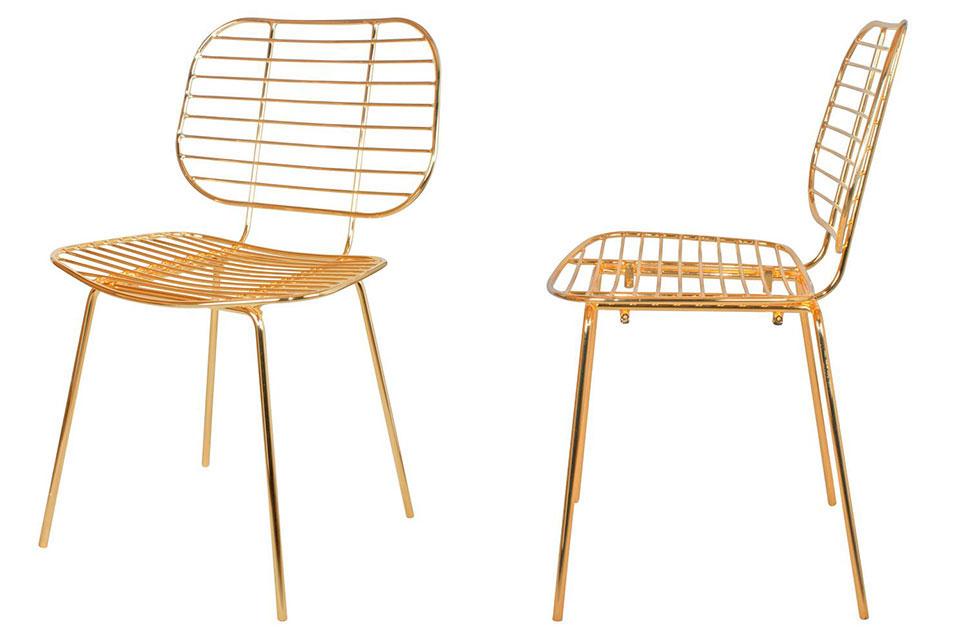 Nous vous présentons la chaise Ralph, une des nouveautés de notre catalogue qui vous donnera envie de mettre du doré de partout.