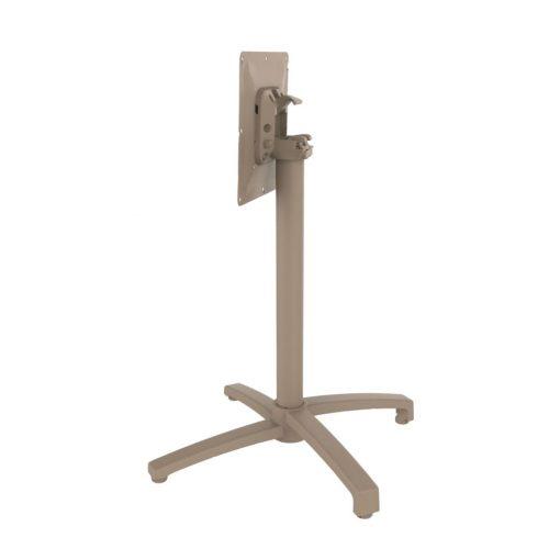DROP PLIABLE Pied de table pliable fabriqué en aluminium, pieds ajustables. Finition peinture powder coated. Adapté pour un usage intérieur ou extérieur. Dimensions: 50x50x72 cm