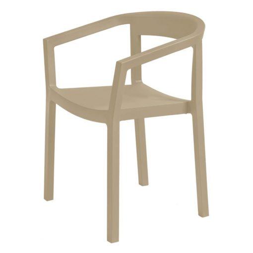 PEACH Chaise pour usage intérieur et extérieur, Fibre de verre injectée avec polypropylène via un procédé de moulage assisté par gaz. Empilable.