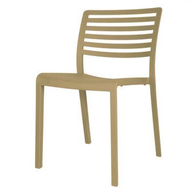 LAMA Chaise pour usage intérieur ou extérieur, fibre de verre avec polypropylène via une technologie assistée par gaz. Empilable, protection anti-UV.