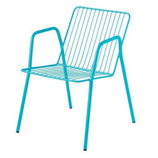 NIZARIVIERA Chaise de style scandinave fabriquée en acier, finition peinture powder coated. Disponible en plusieurs couleurs. Dimensions: 54x59x72 cm