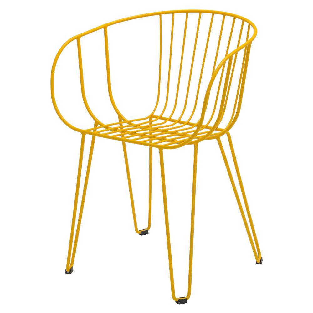OLIVO Chaise de style scandinave en tiges d'acier, finition peinture powder coated. Disponible en plusieurs couleurs.Dimensions: 59x48x78 cm