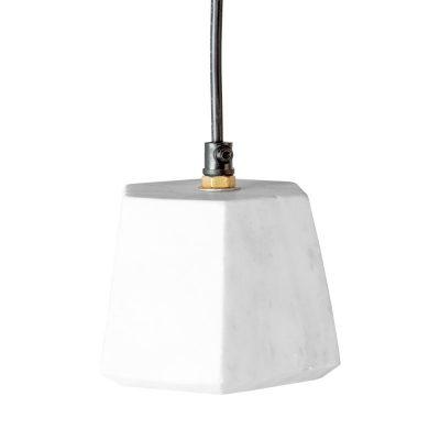 GALOPE BIG Lampe de style scandinave en marbre blanc. Culot E14. Max 40W. Dimensions: Ø12.5xH12 cm