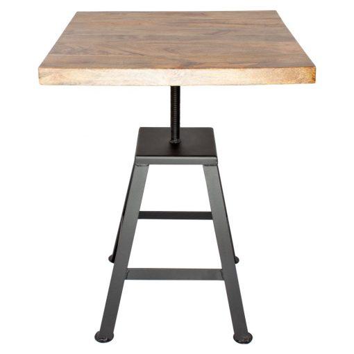 MADISON BLACK Table de style industriel, avec structure en acier, finition peinture, plateau en bois. Fabrication sur mesure, finitions personnalisables. Plateau carré ou rond.