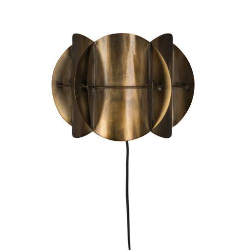CORRIDOR BRASS Applique murale de style mid-century/contemporain, en métal, finition laiton. Dimensions: 27x13,5x19 cm. Un produit de Dutchbone.