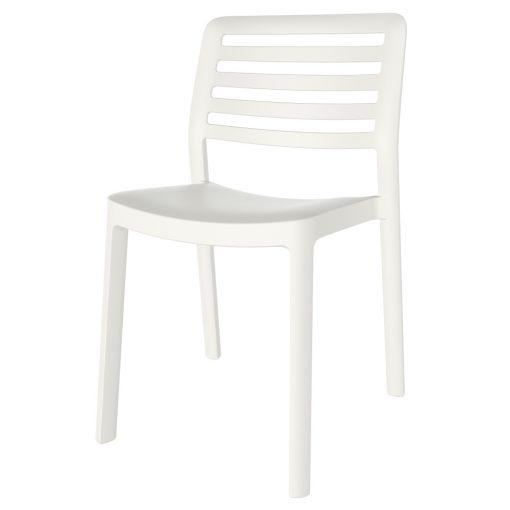 WIND Chaise fabriquée en polypropylène, adapté pour un usage intérieur ou extérieur. Protection anti-UV. Empilable. Couleurs disponibles: sable, blanc, marron, gris et rouge