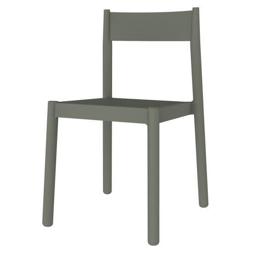 DANNA Chaise fabriquée en polypropylène, adapté pour un usage intérieur ou extérieur. Protection anti-UV. Empilable. Couleurs disponibles: blanc, bleu, blanc, gris foncé, gris vert.