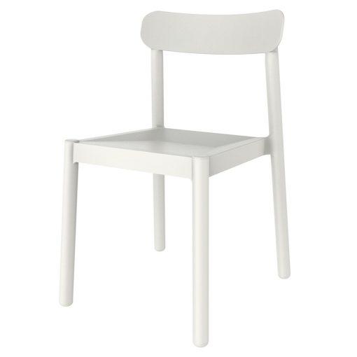 ELBA Chaise fabriquée en polypropylène, adaptée pour un usage intérieur ou extérieur. Protection anti-UV. Empilable. Dimensions: 50×53,5×80 cm. Couleurs disponibles: sable, bleu, blanc, gris foncé, gris-vert