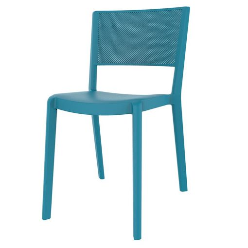 SPOT Chaise fabriquée en polypropylène, adaptée pour un usage intérieur ou extérieur. Protection anti-UV. Empilable. Dimensions: 54x45x78 cm. Couleurs disponibles: sable, bleu, blanc, marron, gris, rouge, vert.