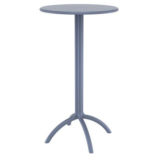 RESTOPUS Table démontable en résine, protection anti-UV. Adaptée pour l'intérieur et l'extérieur. Couleurs disponibles: blanc, noir, gris